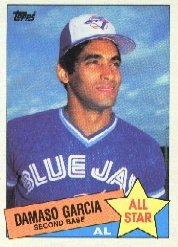 1985 Topps Baseball Cards      702     Damaso Garcia AS