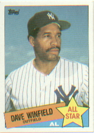 1985 Topps Baseball Cards      705     Dave Winfield AS