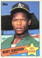 1985 Topps Baseball Cards      706     Rickey Henderson AS