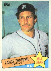 1985 Topps Baseball Cards      708     Lance Parrish AS
