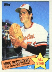 1985 Topps Baseball Cards      709     Mike Boddicker AS