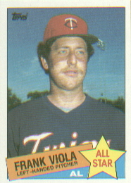 1985 Topps Baseball Cards      710     Frank Viola AS