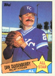1985 Topps Baseball Cards      711     Dan Quisenberry AS