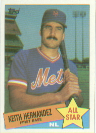 1985 Topps Baseball Cards      712     Keith Hernandez AS
