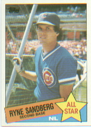 1985 Topps Baseball Cards      713     Ryne Sandberg AS