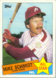 1985 Topps Baseball Cards      714     Mike Schmidt AS