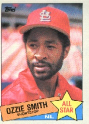 1985 Topps Baseball Cards      715     Ozzie Smith AS