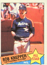 1985 Topps Baseball Cards      721     Bob Knepper AS