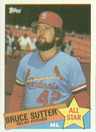 1985 Topps Baseball Cards      722     Bruce Sutter AS