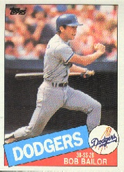 1985 Topps Baseball Cards      728     Bob Bailor