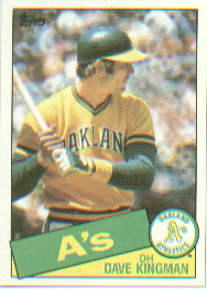 1985 Topps Baseball Cards      730     Dave Kingman
