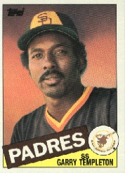 1985 Topps Baseball Cards      735     Garry Templeton