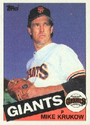 1985 Topps Baseball Cards      074      Mike Krukow