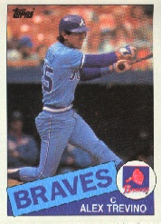 1985 Topps Baseball Cards      747     Alex Trevino