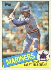 1985 Topps Baseball Cards      754     Larry Milbourne