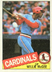 1985 Topps Baseball Cards      757     Willie McGee