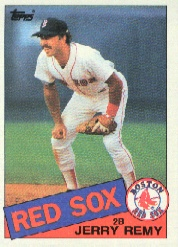 1985 Topps Baseball Cards      761     Jerry Remy