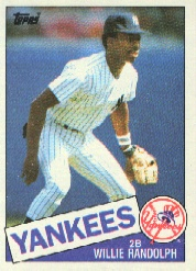 1985 Topps Baseball Cards      765     Willie Randolph