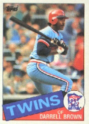 1985 Topps Baseball Cards      767     Darrell Brown