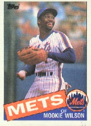 1985 Topps Baseball Cards      775     Mookie Wilson