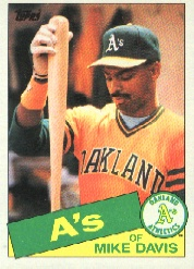1985 Topps Baseball Cards      778     Mike Davis