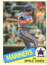 1985 Topps Baseball Cards      084      Spike Owen