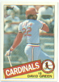 1985 Topps Baseball Cards      087      David Green