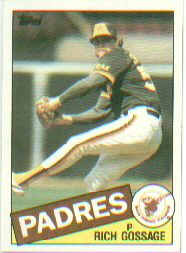 1985 Topps Baseball Cards      090      Rich Gossage