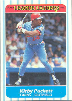 1986 Fleer League Leaders Baseball Cards