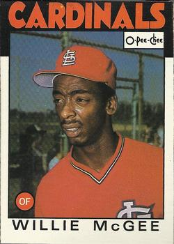 1986 O-Pee-Chee Baseball Cards 117     Willie McGee