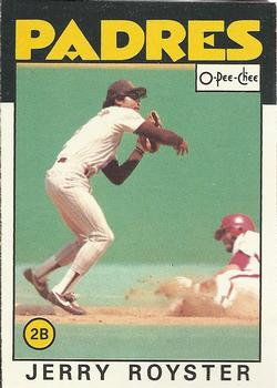 1986 O-Pee-Chee Baseball Cards 118     Jerry Royster