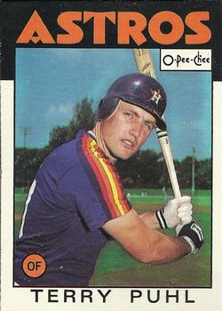 1986 O-Pee-Chee Baseball Cards 161     Terry Puhl