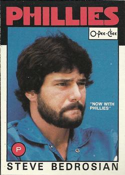 1986 O-Pee-Chee Baseball Cards 181     Steve Bedrosian#{Now with Phillies