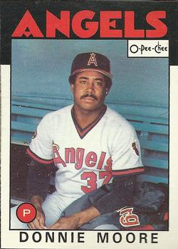 1986 O-Pee-Chee Baseball Cards 345     Donnie Moore