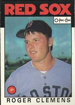1986 O-Pee-Chee Baseball Cards 098      Roger Clemens