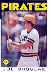 1986 Topps Baseball Cards      102     Joe Orsulak RC*