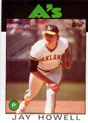 1986 Topps Baseball Cards      115     Jay Howell