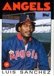 1986 Topps Baseball Cards      124     Luis Sanchez