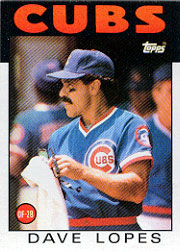 1986 Topps Baseball Cards      125     Dave Lopes