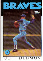 1986 Topps Baseball Cards      129     Jeff Dedmon