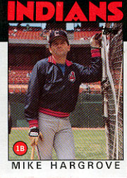 1986 Topps Baseball Cards      136     Mike Hargrove