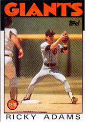 1986 Topps Baseball Cards      153     Ricky Adams