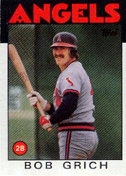 1986 Topps Baseball Cards      155     Bob Grich