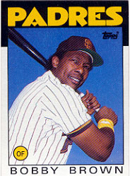 1986 Topps Baseball Cards      182     Bobby Brown