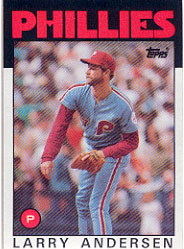 1986 Topps Baseball Cards      183     Larry Andersen