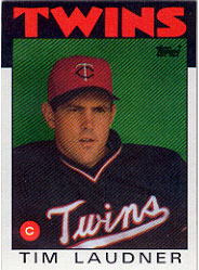 1986 Topps Baseball Cards      184     Tim Laudner
