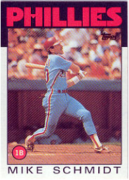 1986 Topps Baseball Cards      200     Mike Schmidt