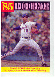 1986 Topps Baseball Cards      202     Dwight Gooden RB