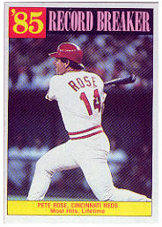 1986 Topps Baseball Cards      206     Pete Rose RB