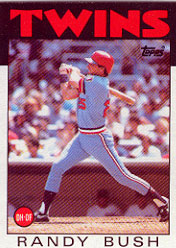 1986 Topps Baseball Cards      214     Randy Bush